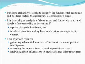 Commodity Futures Fundamental Analysis